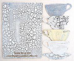 Crackle for CVCC (Bumblebees and Butterflies) Mixed Media Tutorials, Art Tutorials, My Coffee, Coffee Cups, Mixed Media Collage, Medium Art, Art Techniques, Canvas Art, My Arts