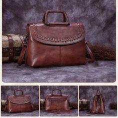 e0fa983ccd Handmade Vintage Leather Messenger Satchel Bag