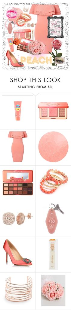 """""""Your my world"""" by ericjen8685 ❤ liked on Polyvore featuring SkinCare, Too Faced Cosmetics, Miss Selfridge, WALL, Manolo Blahnik, Ted Baker, Alexis Bittar and ASOS"""