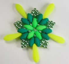 Deb Roberti's FREE Starburst pattern done in Neon.