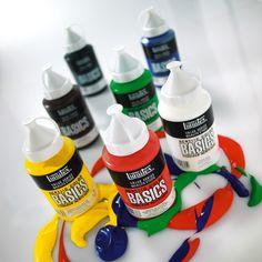 Liquitex Basics akryylivärit on ostettavissa 400ml pulloissa myös väreittäin. Paksu akryyliväri sopii opiskelijoille ja taiteilijoille, jotka tarvitsevat hyvälaatuisen akryylivärin edulliseen hintaan. Sisältää pysyviä, taiteilijalaatuisia pigmenttejä. Valikoimassa 30 väriä. Hinta: 12,50 € /kpl www.netmanner.fi #liquitex #akryyli #acrylic #paint #painting