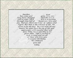 Personalized Poem Birthday Gift Digital by queenofheartgifts