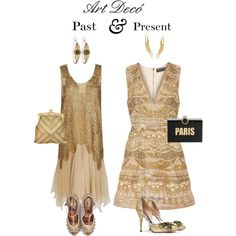 Art Decó: Past & Present by romaosorno on Polyvore featuring polyvore, мода, style, Alice + Olivia, Rochas, Whiting & Davis, Kayu, Ross-Simons, fashion and clothing