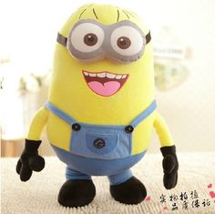 Big Size 20inch/50cm Minions 3D Despicable Me Eyes Yellow Large Minion Doll Plush Stuffed Toys For Children Birthday Gift