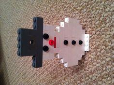 #lego #christmas #winter // Lego snowman ornament