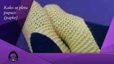 Kako se pletu papuče (papke) - How to knit slippers
