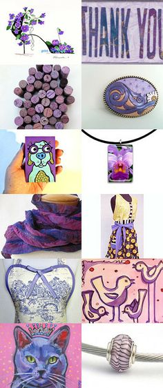 Rolling in Purples by Jennifer Burrell on Etsy--Pinned with TreasuryPin.com