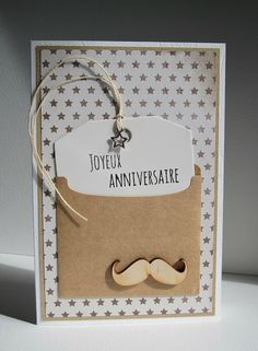 Need to translate but I like the design alot! Mustache Cards, Card Making Templates, Dear Diary, Masculine Cards, Baby Cards, Anniversary Cards, Scrapbook Cards, Photo Book, Greeting Cards