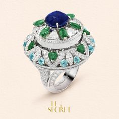 "Part flower, part poem, this ring reveals its message to the person who detects its mechanism. Swipe to discover its mysterious secret: a quote from Oscar Wilde ""a life without love is like a sunless garden"".  #HighJewelry #VCAleSecret #VanCleefArpels"
