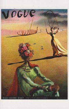 Vintage Vogue Covers, Salvador Dali, June 1939 #VintageVogueCoversKisyovaLazarinova