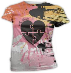 ANY COLOR Autism Heart Puzzle Graphic Print Top by InkandRags, $29.00