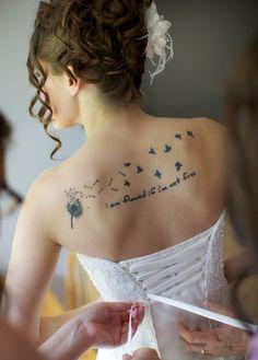 vögel Rücken Tattoos
