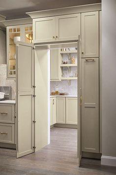 Kitchen Pantry Design, Kitchen Cabinet Organization, Home Decor Kitchen, New Kitchen, Vintage Kitchen, Kitchen Cabinets, Kitchen Ideas, Pantry Ideas, Organization Ideas