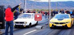 O Veche Dacia Modificată Provoacă un BMW i8 într-o Cursă de 400 metri
