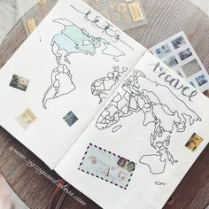 Bullet journal travel page, travel collection, bujo collection, travel journal
