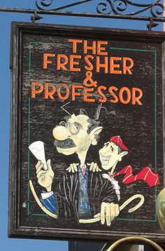 Pub sign The Fresher and Professor Plymouth (gone)
