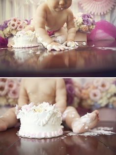 yeah for babies eating cakes :D