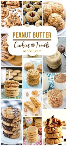 The BEST Peanut Butter Cookies and Treats Recipes!  So many amazing peanut butter cookie recipes and peanut butter treats! I HAVE to try those peanut butter cups!