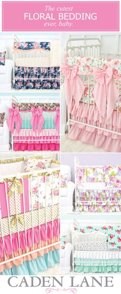 Shop our huge selection of floral baby bedding and create the nursery you've been dreaming of for your baby girl! Get excited and get decorating!