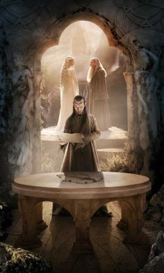 """""""In those days of our tale there were still some people who had both elves and heroes of the North for ancestors, and Elrond the master of the house was their chief... He was as noble and as fair in face as an elf-lord, as strong as a warrior, as wise as a wizard, as venerable as a king of dwarves, and as kind as summer."""" --The Hobbit, by J.R.R. Tolkien."""