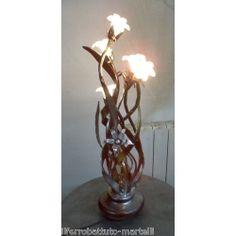 LAMPADA da TAVOLO in Ferro Battuto . Realizzazioni Personalizzate . 497 Iron Table, Wrought Iron, Table Lamp, Lighting, Home Decor, Table Lamps, Decoration Home, Room Decor, Lights