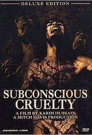 """Subconscious Cruelty"" is divided in four segments: Ovarian Eyeball - a naked woman is sliced by a sharp blade and an eyeball is removed from her belly. Human Larvae - a deranged man that hates his sister that is pregnant kills her newborn offspring and she during the delivery. Rebirth - a group of naked people rolls around in mud and blood. Right Brain/Martyrdom - religious symbolism associated with gore and sex."