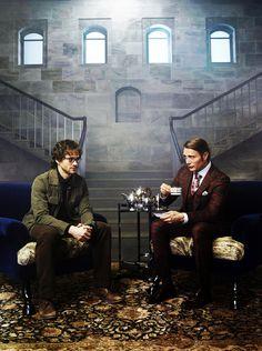Mads Mikkelsen and Hugh Dancy / Hannibal  I FUCKING LOVE HANNIBAL!!!!!!!!!!!!!