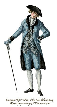 Late 18th Century PNGs of mens fashion plates in various colors by EKDuncan - http://www.ekduncan.com/2012/02/french-parlor-scene-with-marie-and.html#