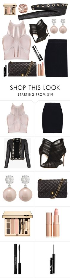 """""""Comment te dire que..."""" by anilia ❤ liked on Polyvore featuring Helmut Lang, Balmain, Dolce&Gabbana, Jankuo, Chanel and Tartesia"""