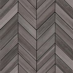 Watercolor Graphite Chevron mosaic tiles imported from have a contemporary and on-trend design. Recommended for use as backsplash tile and wall tile. Chevron Tile Pattern, Tile Patterns, Tiles Texture, Wood Texture, Pallett Wall, Interior Design Principles, Grey Tiles, Fireplace Wall, Moroccan Decor