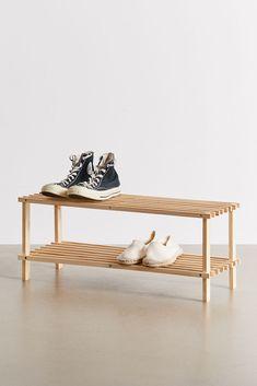 Wood Shoe Rack, Bamboo Shoe Rack, Diy Shoe Rack, Shoe Racks, 2 Shelf Shoe Rack, Diy Shoe Shelf, Shoe Rack Room, Wooden Rack, Vinyl Storage