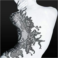 I have no tattoos but if I had to get one, it would be lace