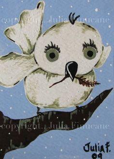 Bird art print By Julia Finucane