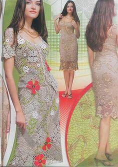 CROCHET patterns women's lace dress top by RussianCrochetBooks