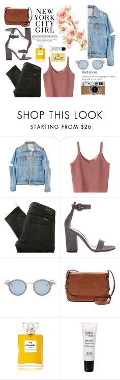 """""""turn to dust"""" by omyhillary ❤ liked on Polyvore featuring Hermès, Belstaff, Gianvito Rossi, H&M, Thom Browne, FOSSIL, Chanel, philosophy and CASSETTE"""