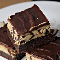 Chocolate Chip Cookie Dough Brownies from Eats Well With Others.