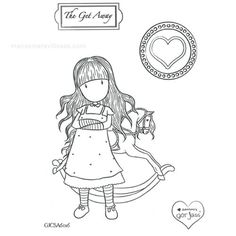 Gorjuss Santoro Spring Brights Stamps clipart and coloring pages - Buscar con… Santoro London, Card Making Templates, Cute Coloring Pages, Line Illustration, Wool Applique, Magnolias, Pretty Cards, Copics, Cute Crafts