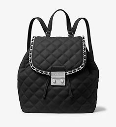 d5da010324 Michael Kors Carine Medium QuiltedLeather Backpack Black -- To view further  for this item