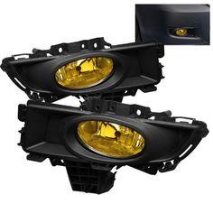 ( Spyder ) Mazda 3 07-08 4Dr OEM Fog Lights (WonÇt Fit Sports/Gt Or Hatchback)W/Switch - Yellow