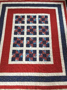 Quilt of Valor I free motion quilted trying a wave look meander - not sure if I love or not by Dawn Feb. 2015