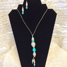 Contemporary Cool Jewelry set - choice of Turquoise or Salmon by ABBOCREATIONS on Etsy