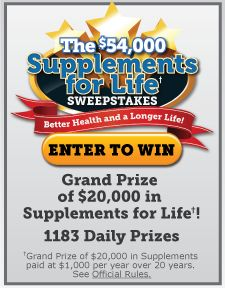 Supplements For Life Sweepstakes
