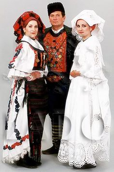Croatian traditional clothing - Page 3 - Slavonia Fashion History, World Of Fashion, European Costumes, Costumes Around The World, Folk Clothing, Beautiful Costumes, Folk Costume, People Of The World, World Cultures