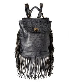 Love this Black Fringe Backpack on #zulily! #zulilyfinds