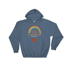 Fur Baby Crossed Over The Rainbow Bridge Unisex Hoodie