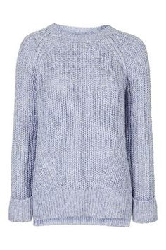Tweedy Oversized Rib Crew Neck Jumper