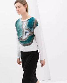 df8630dd Aliexpress.com : Buy 2014 Fall New ZARA Xu Qing movement blooming flowers  and young women Fleece sweater female 5644/062 from Reliable sweater tank  ...