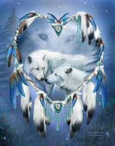 Shop for wolf art from the world's greatest living artists. All wolf artwork ships within 48 hours and includes a money-back guarantee. Choose your favorite wolf designs and purchase them as wall art, home decor, phone cases, tote bags, and more! Wolf Images, Wolf Pictures, Native American Wolf, American Indian Art, Wolf Dreamcatcher, Dream Catcher Art, Wolf Artwork, Wolf Spirit Animal, Wolf Wallpaper
