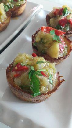 Patates Çanağında Patlıcan Salatası | İzmirdenlezzetler