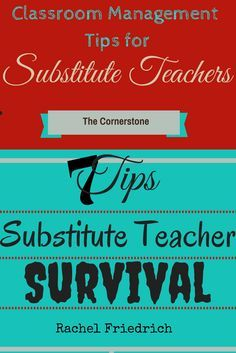 Substitute teacher advice love all of it so helpful teacher guest post written by rachel friedrich she shares lots of substitute teacher tips and tricks fandeluxe Images